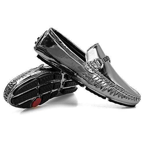 Nuevos Hombres C Conducen Ocasionales De 47 Que Resbalones Otoño En Zapatos Hombres b Británicos Guisantes Primavera Planos Mocasines Mmj Los Cuero qwtAIY