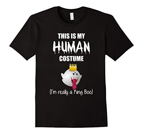 Mens I'm Really a King Boo Funny Halloween Costume t-shirt Large Black
