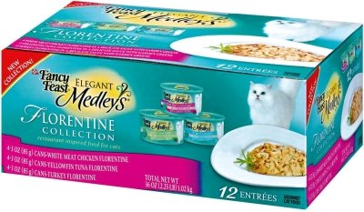 Brand New, NESTLE PURINA PET CARE CANNED - FANCY FEAST ELEGANT MEDLEY'S VARIETY PACK FLORENTINE (24/3 OZ) (PURINA - NP NON PET SPECIALTY CAT CAN)
