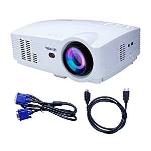 Projector wimius t4 3200 lumens 1280 800 hd led video for Hd projector amazon
