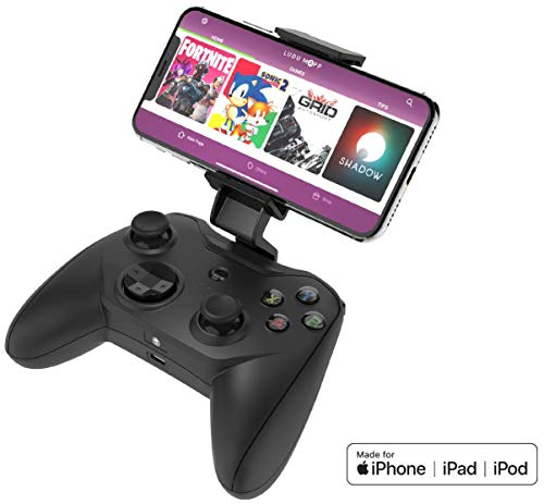 Rotor Riot Mfi Certified Gamepad Controller for iPhone - Wired with L3 + R3 Buttons, Power Pass Through Charging, Improved 8 Way D-Pad, and redesigned ZeroG Mobile Device