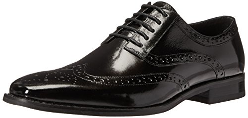 Leather Calf Oxford Shoes - STACY ADAMS Men's Tinsley-Wingtip Oxford, Black 7.5 M US