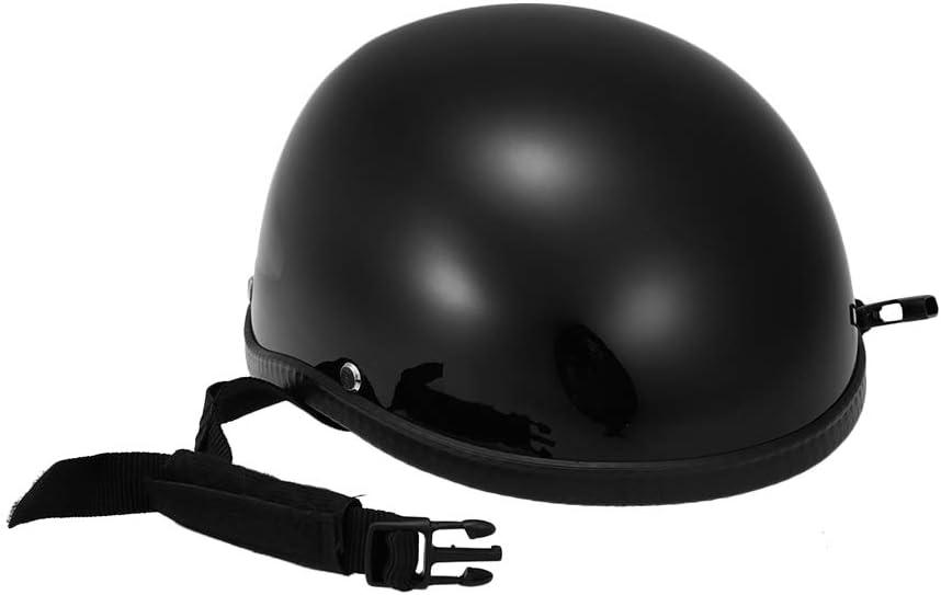 Noir Brillant Festnight Casque de Moto Demi-Casque /à Coque Ouverte pour Casque de Protection pour v/élo de Scooter