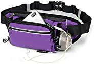 Fanny Pack with Water Bottle Holder, 5-Pockets Running Belt Bag for Women Men,Hiking Waist Bag with Keychain,W