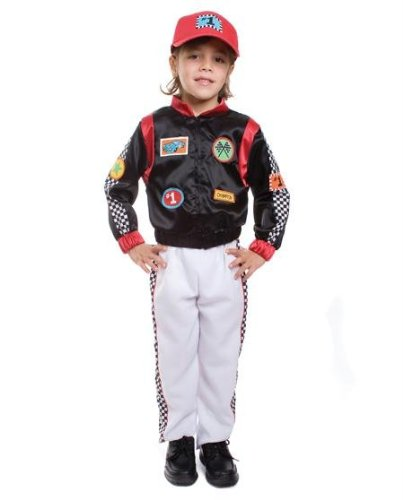 [Costumes For All Occasions UP507LG Race Car Driver Large] (Race Car Driver Kids Costumes)