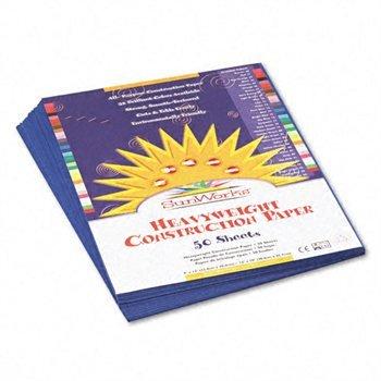 Dark Blue Construction Paper - SUNWORKS All purpose Construction Paper DARK BLUE 9X12 PK50