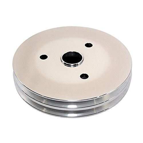 Assault Racing Products A9481POL Small Block Chevy 2 Groove Polished Aluminum Crankshaft Pulley 6.60