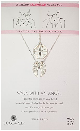 Dogeared Angel Necklace - Dogeared Women's Silver Angel Scapular Chain Necklace