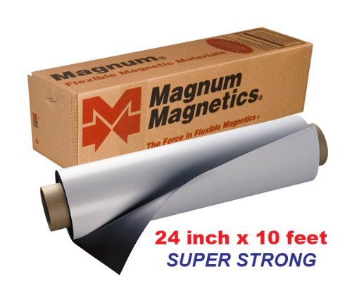 Magnum Magnetic 24''x10 feet .30mil Super Strong Flexible Material by MAGNUM MAGNETICS