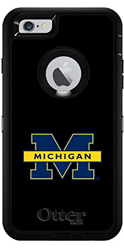 University Of Michigan - Michigan M design on Black OtterBox Defender Series Case for iPhone 6 Plus and iPhone 6s Plus by Coveroo (Image #2)