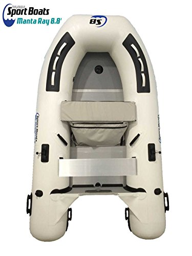 Inflatable Sport Boats Manta Ray 8.8 – Model 270 – Aluminum Floor Dinghy with Seat Bag