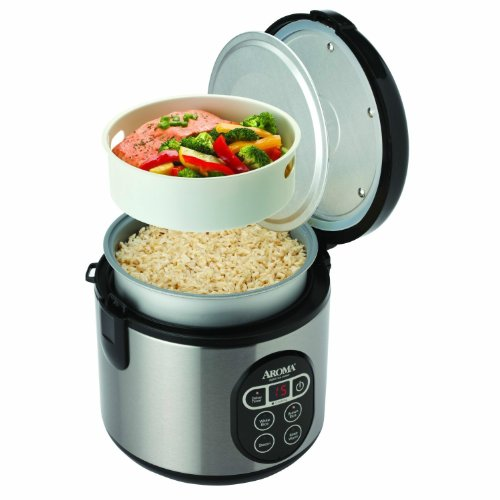 NEW Aroma Arc-914sbd 8 Cup (Cooked) Digital Rice Cooker and Food Steamer