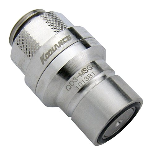 Koolance QD3-MSG4 QD3 Male Quick Disconnect No-Spill Coupling, Male Threaded G 1/4 BSPP
