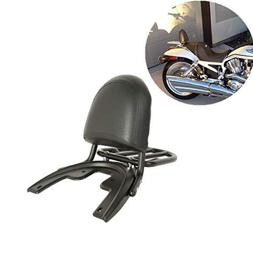 (TCMT Black Backrest Luggage Rack Baseplate Fits For Harley Davidson V ROD VROD VRSC 2002-2006 02-06)