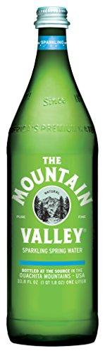 THE MOUNTAIN VALLEY NATURAL PURE FINE Sparkling Spring Water 1 L. Pack of 12 by THE MOUNTAIN VALLEY NATURAL PURE FINE