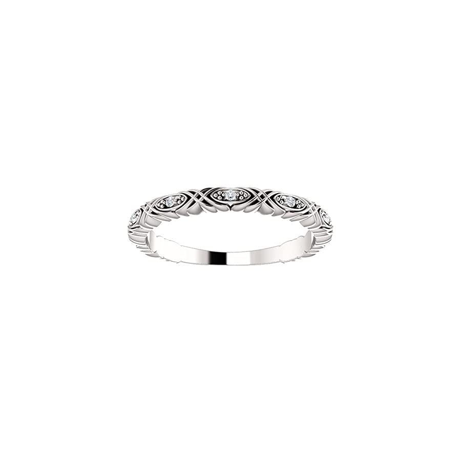 0.33 ct Ladies Round Cut Diamond Anniversary Band in 18 kt White Gold