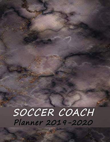 2019 Coaches - Soccer Coaches Notebook: 2019-2020 Academic Planner | Youth Training and Planning Schedule Organizer - Red Marble (Coach Notebook - Soccer)