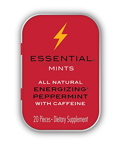 VitaThinQ, Essential Mints, Energizing Peppermints with Caffeine All Natural, Gluten Free, HFCS Free, Non GMO, Vegan, Energy Supplements, Eighty Mints ()