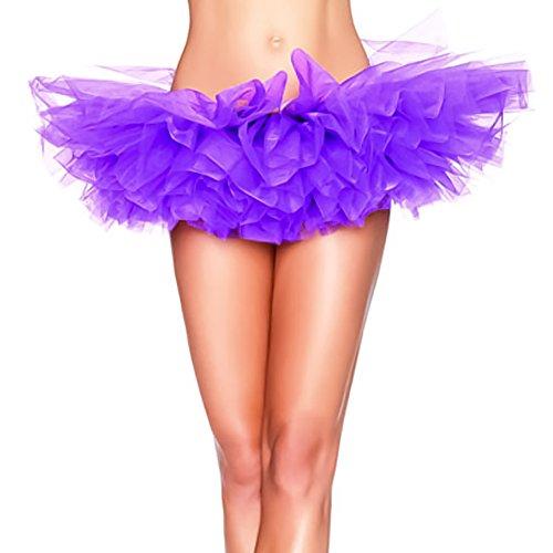 HENCY Femme Tutu color mini jupe de danse pour ballet/bal Petticoat Jupon Violet