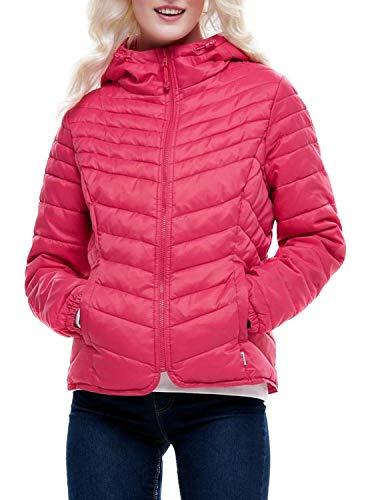 geranium Nylon Onldemi Jacket Cc Rosa Hooded Mujer Para Otw Chaqueta Only Hwxqgvv