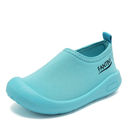 CIOR Kids Slip-on Casual Mesh Sneakers Aqua Water Breathable Shoes For Running Pool Beach (Toddler/Little Kid) SC1600 Blue 20 0