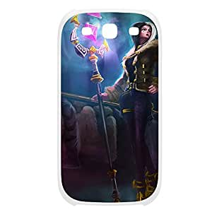 Leblanc-003 League of Legends LoL For Case HTC One M7 Cover Plastic White