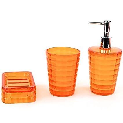 Nameeks Gl200 Gedy Bathroom Accessories Set Orange Bathroom