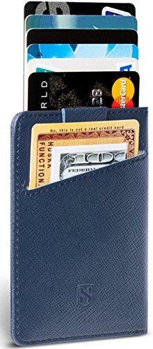 Slim RFID Card Holder Front Pocket Wallet - Italian Leather - Up To 8 Cards - HUSKK