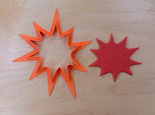 Comic Book Pow Cookie Cutter Outline #2 (2.5 inches) -