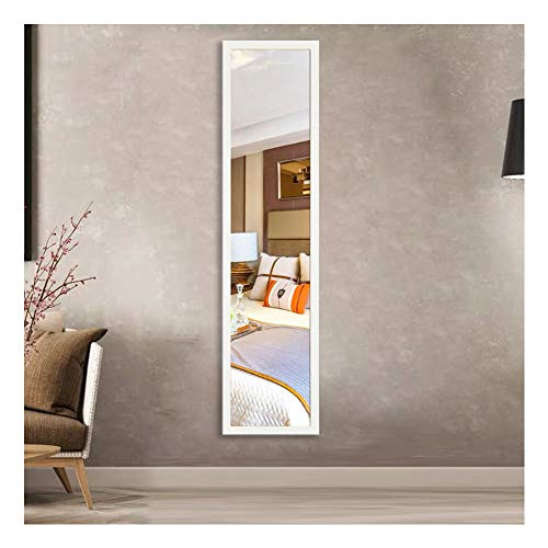 Beauty4U Full Length Wall Mirror Float Tile White Dressing Mirror for Wall -
