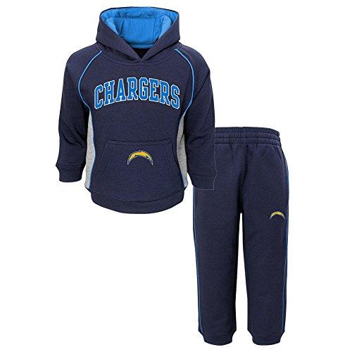 Outerstuff NFL San Diego Chargers Boys Lil'fan Fleece Set, Dark Navy, 4T ()