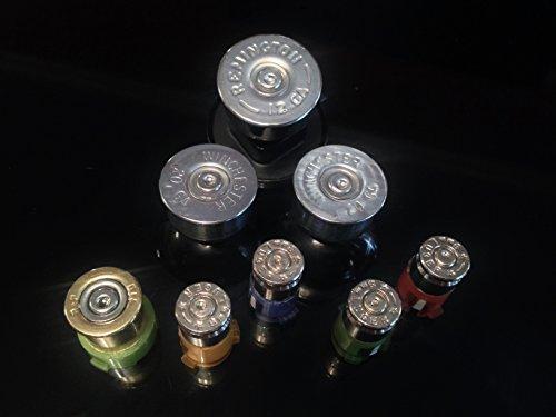 Remington 9mm Luger (Microsoft Xbox 360 Wireless Controller Custom Silver Bullet Buttons Replacement Buttons Mod Kit. 9mm Abxy Bullet Buttons+20g Shotgun Shells Analog Sticks+12g Shotgun Shell D-Pad+410 Shotshell Guide.)