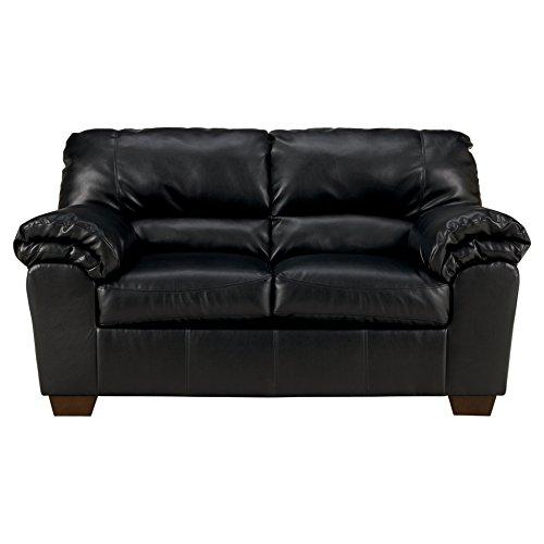 Ashley Furniture Signature Design - Commando Contemporary Faux Leather Loveseat - Black