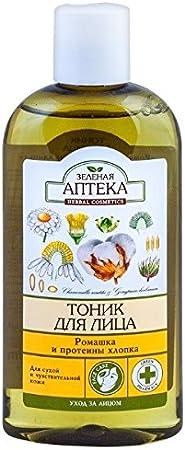 55146 Toner Facial Manzanilla y proteínas algodón 200 ml verde farmacia: Amazon.es: Belleza