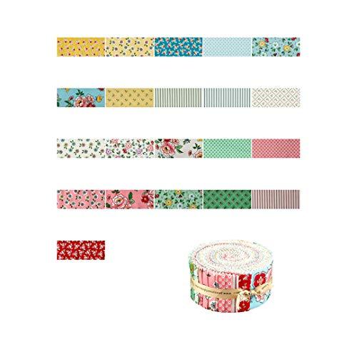 Penny Rose Mon Beau Jardin 2.5'' Rolie Polie 40 Piece Fabric, Multicolor