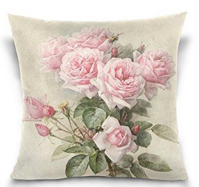 BabysSJ Vintage Shabby Chic Pink Rose Floral,Soft Pillowcase (Shabby Chic Pillows Sofa)
