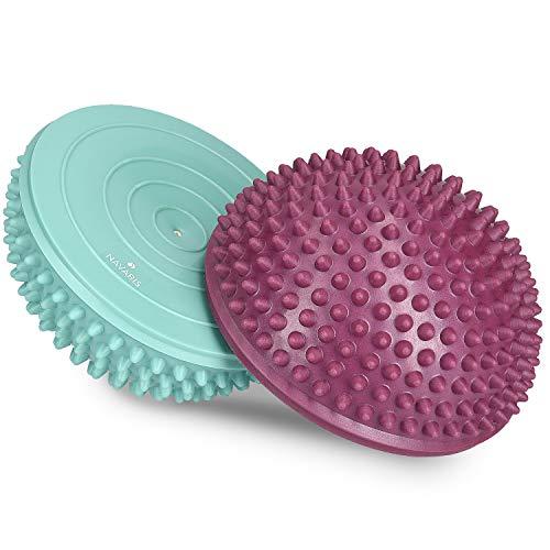 Navaris Bola de Equilibrio para Mejorar coordinación - Set de 2 Bolas Fitness diseño Erizo para Entrenar - Cojín para Estabilidad en DIV. Colores a buen precio