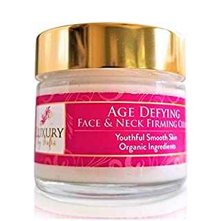 Organic Age Defying Face & Neck Skin Firming Creme | Relieve Wrinkles & Fine Lines |Anti Aging Facial Cream With Peptides & Natural Botanicals, Vitamin C & Hyaluronic Acid | Moisturizing & Soothing For Younger Looking Skin