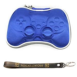 For PlayStation 3 PS3 Controller - Airform/Airfoam Protective Game Box Case with Hand-Strap Blue
