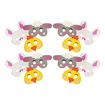 Childrens Easter Foam Mask 3 Designs Chick Bunny Lamb Fancy Dress Party Nativity