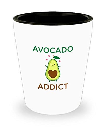 Glass Avocado - Avocado Shot Glass - avocado addict - Funny Gift Idea