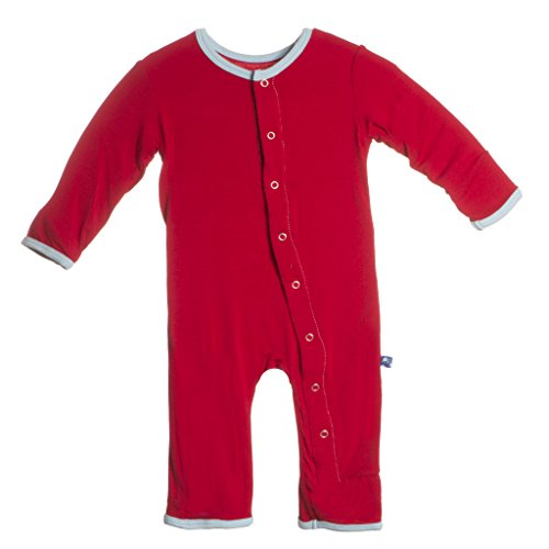 KicKee Pants Little Boys Applique Coverall- Balloon Tricycle, 3-6 Months