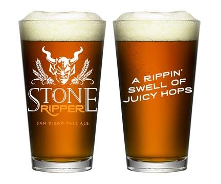 Stone Brewing Company - Ripper IPA - Pint Glass (Company Brewing Stone)
