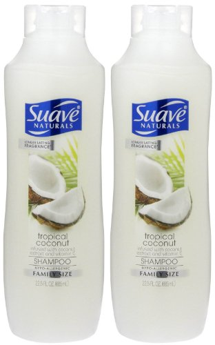 Suave Naturals Moisturizing Shampoo - Tropical Coconut - 22.5 oz - 2 pk