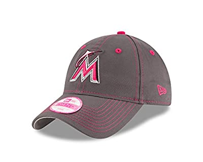 MLB Miami Marlins Women's 2016 Mother's Day 9Twenty Adjustable Cap, One Size, Pink by New Era Cap Company
