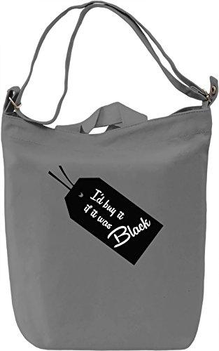 Black Borsa Giornaliera Canvas Canvas Day Bag| 100% Premium Cotton Canvas| DTG Printing|