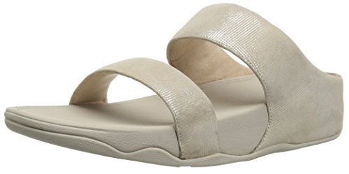 Fitflop Gris para Check Mujer Lulu 31 Stone Sandals Shimmer Sandalias Slide rxUa1r