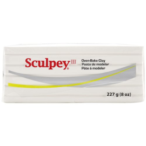 (Polyform Sculpey III Polymer Clay 8 Oz: White)