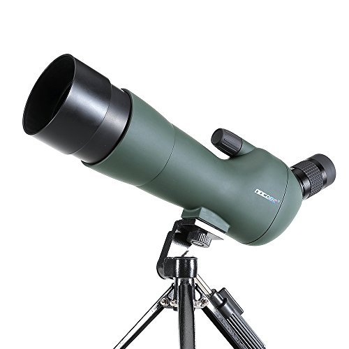 NOCOEX 20-60X60 Spotting Scope - Zoom Magnification Telescope Waterproof Scope - with Case and Tripod for Hands - Camera photography adapter - for Bird Watching, or Wildlife - Army Green by NOCOEX