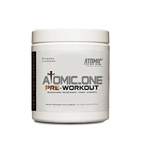 Atomic Strength Nutrition Atomic_One Pre-Workout Supercharging Testosterone Booster Science Driven Pump Pre-Workout – 30 Servings Cherry Limeade